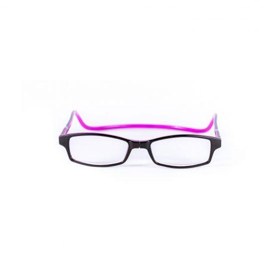 Easy Reader magneetleesbril leesbril met magneetsluiting square zwart/paars