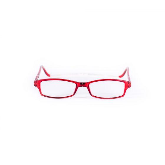 Easy Reader Leesbril met magneetsluiting square rood
