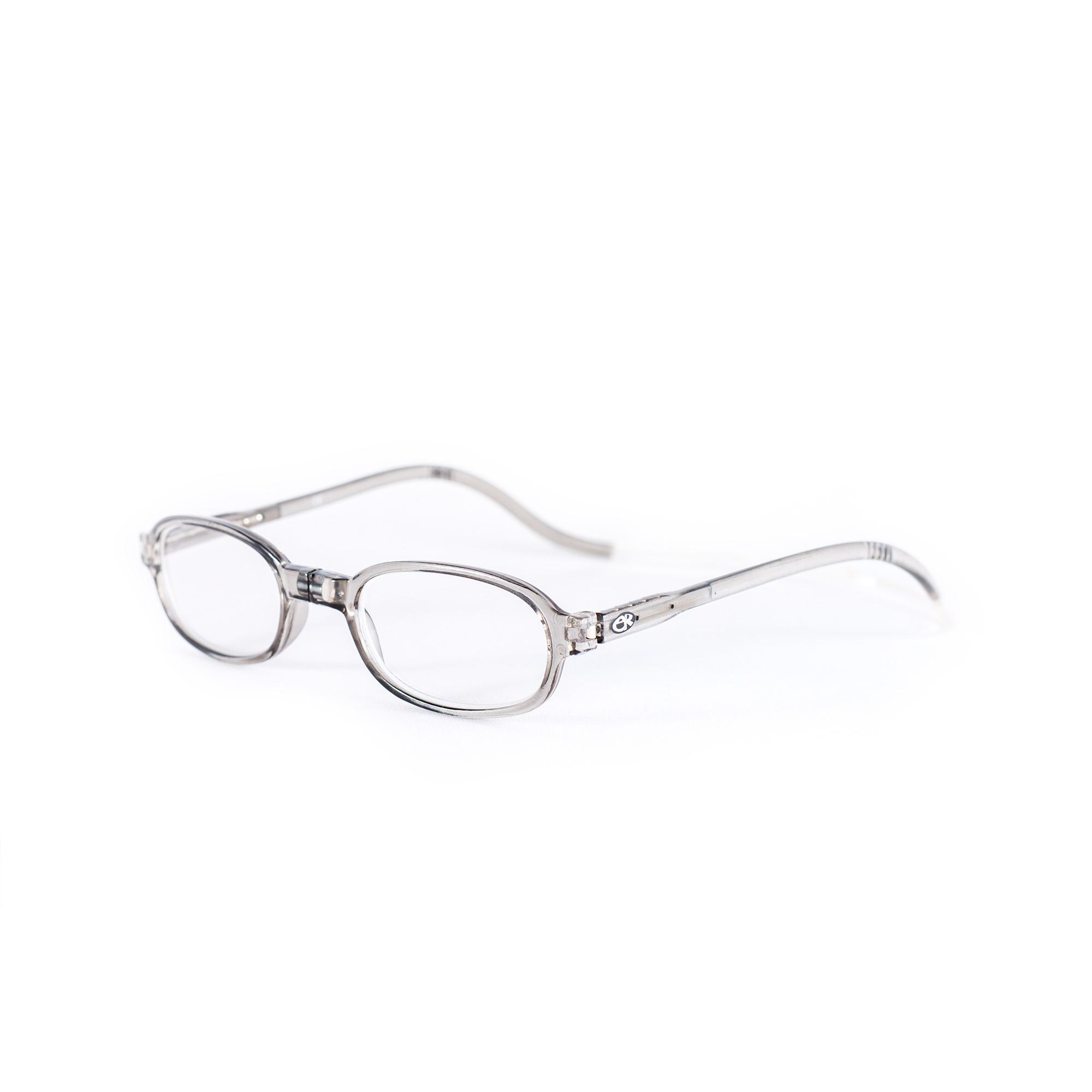 Easy Reader Magneetleesbril leesbril met magneetsluiting rond grijs