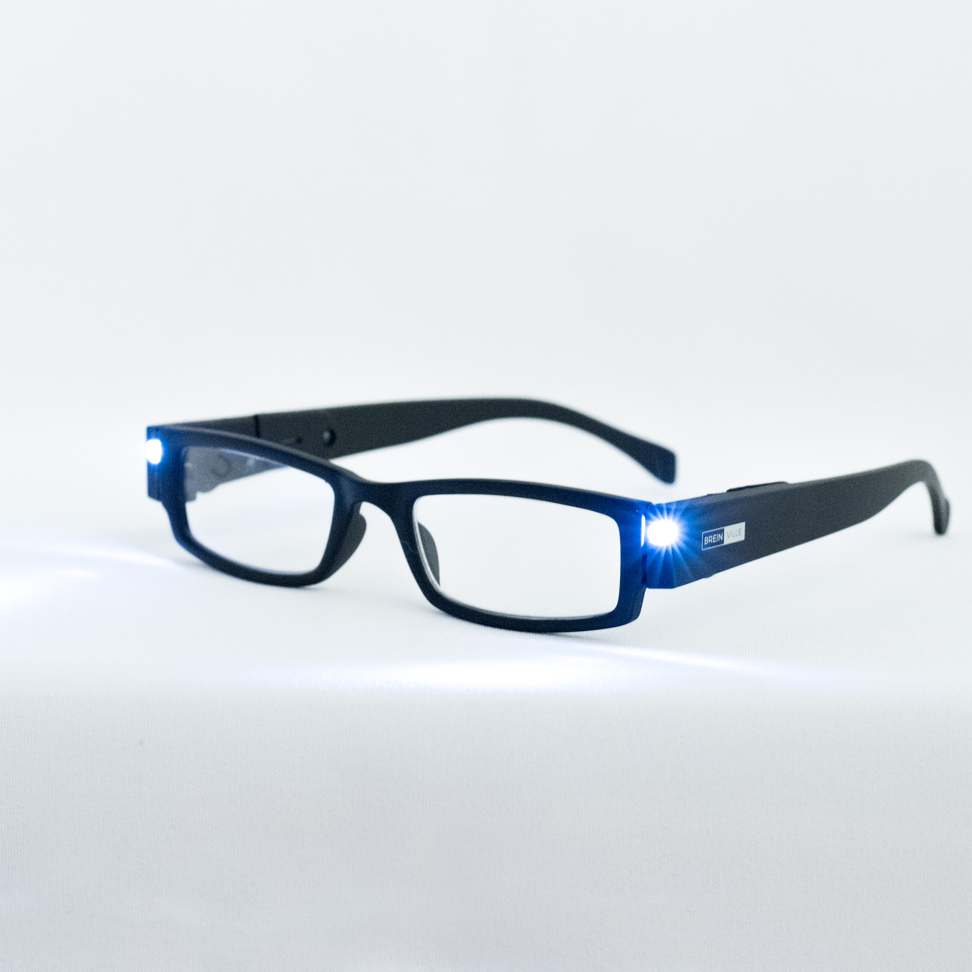 LED leesbril zwart. Leesbril met LED-verlichting.