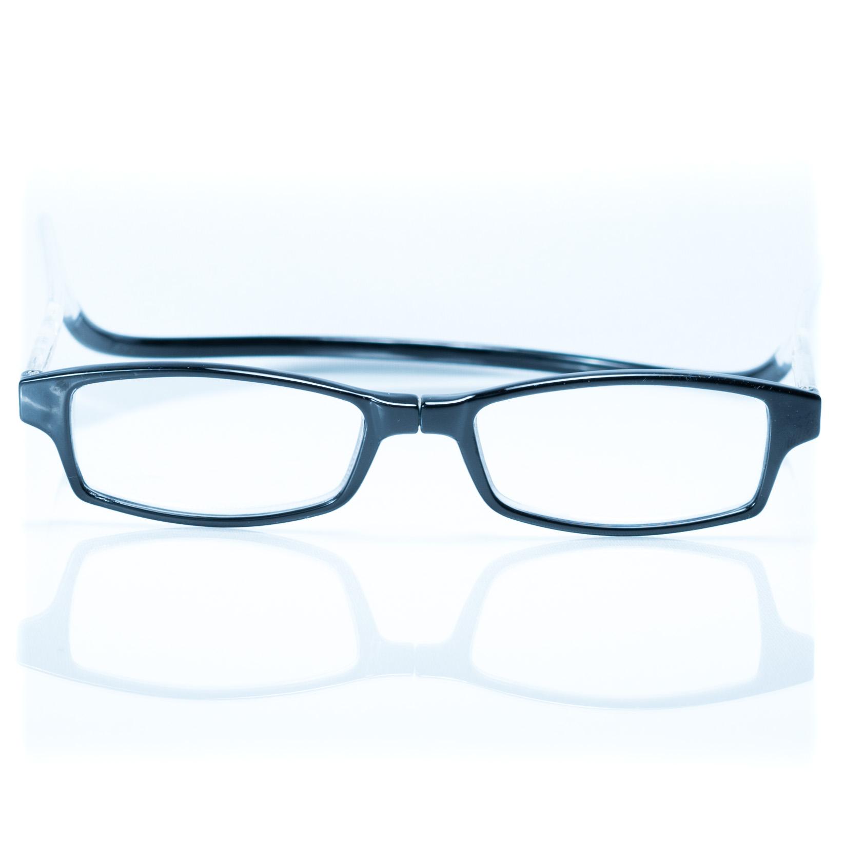Easy Reader magneetleesbril leesbril met magneetsluiting square zwart transparant