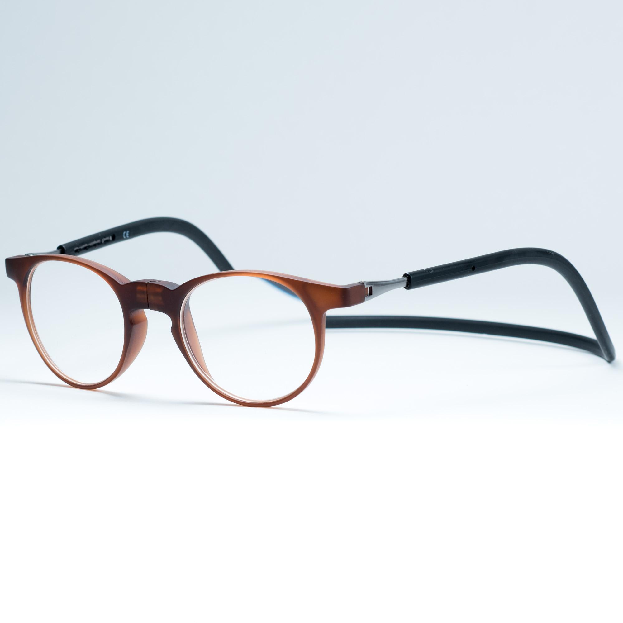 Easy Reader magneetleesbril leesbril met magneetsluiting model robin bruin