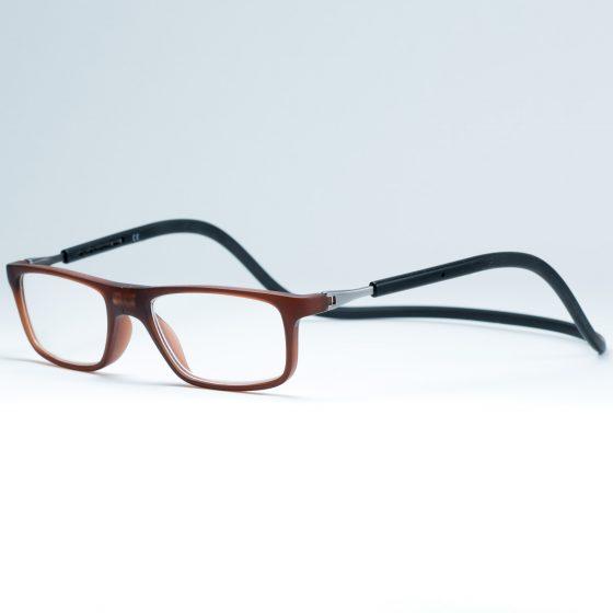 Easy Reader magneetleesbril leesbril met magneetsluiting model sam bruin