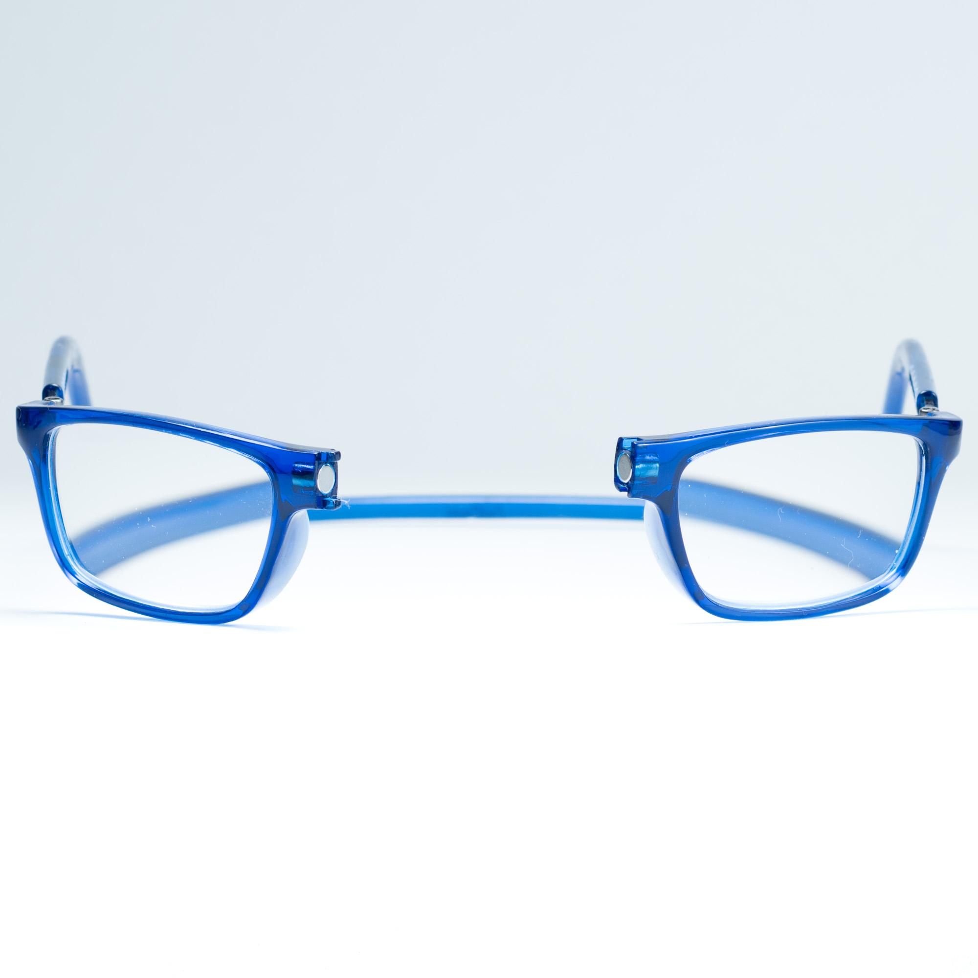 Easy Reader magneetleesbril leesbril met magneetsluiting model sam blauw