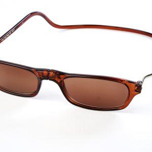 Easy Reader magneetleesbril leesbril met magneetsluiting model Classic XL zon bruin