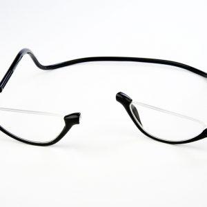 Easy Reader magneetleesbril leesbril met magneetsluiting Lookover leesbril zonder bovenrand clicleesbril klikleesbril zwart
