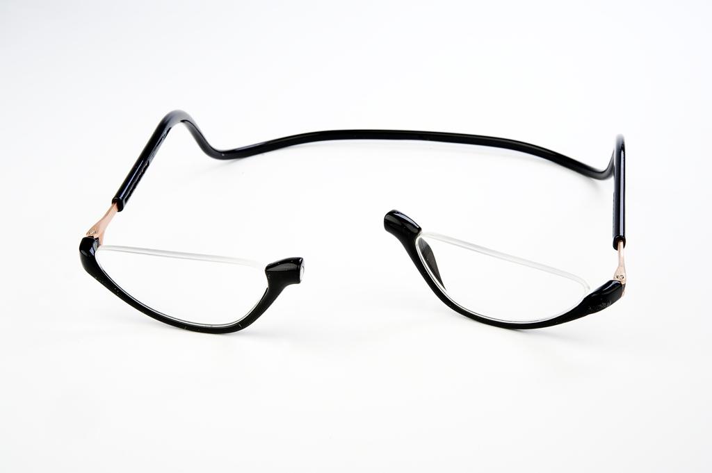 Easy Reader magneetleesbril leesbril met magneetsluiting Lookover zwart leesbril zonder bovenrand clicleesbril klikleesbril zwart