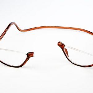 Easy Reader magneetleesbril leesbril met magneetsluiting Lookover leesbril zonder bovenrand clicleesbril klikleesbril bruin