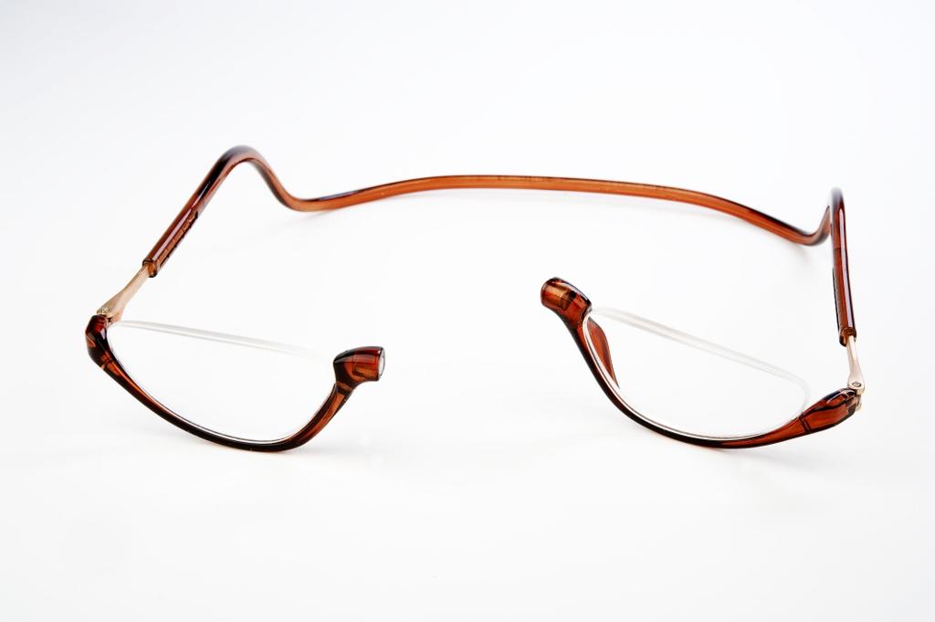 Easy Reader magneetleesbril leesbril met magneetsluiting Lookover bruin leesbril zonder bovenrand clicleesbril klikleesbril bruin